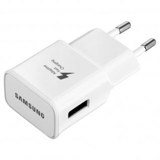 Original Samsung Wand Ladegerät + USB -Typ C Ladekabel - Weiß