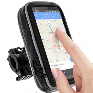 Motorrad- Fahrrad wasserfeste Halterung für Smartphones - Schwarz