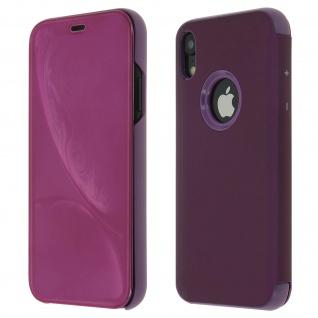 Apple iPhone XR Flip Cover mit Spiegeleffekt & Standfunktion - Violett