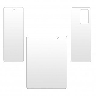 Samsung Galaxy Z Fold 2 3x Schutzfolien-Set aus Hydrogel, Imak ? Transparent