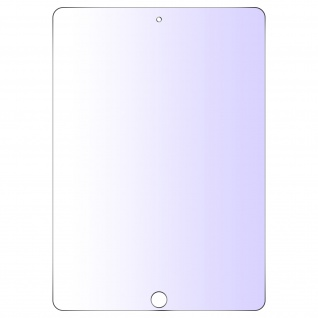 Apple iPad 2018, 2017 9.7 / iPad Air Folie mit Blaulicht Filter ? Transparent