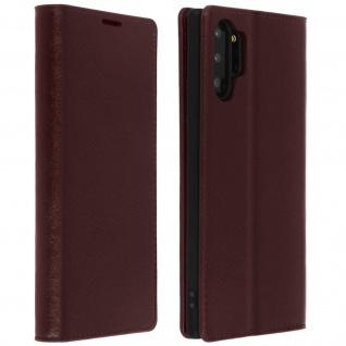 Business Leder Cover, Schutzhülle mit Geldbörse Galaxy Note 10 Plus - Braun