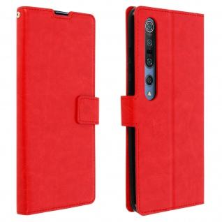 Flip Stand Case Brieftasche & Standfunktion für Xiaomi Mi 10/Mi 10 Pro ? Rot