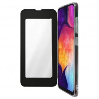 Spiegel Hülle, dünne Klapphülle für Samsung Galaxy A50 - Schwarz