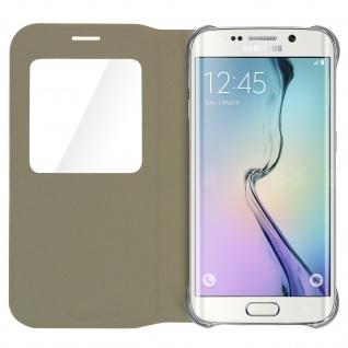 S-View Flip Book Cover, Schutzhülle mit Geldbörse für Galaxy S6 Edge - Gold - Vorschau 5