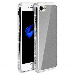 Schutzhülle, Glittery Case für Apple iPhone 7 / 8 / SE 2020 - Silber
