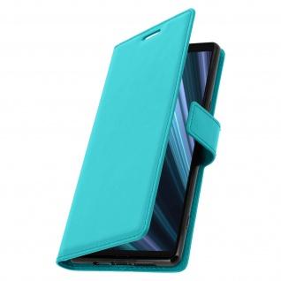 Flip Stand Cover Brieftasche & Standfunktion für Sony Xperia 1 - Türkisblau - Vorschau 2
