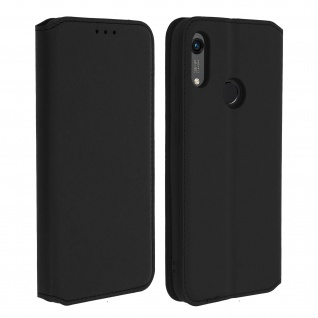 Kunstleder Cover Classic Edition Honor 8A , Huawei Y6 2019 - Schwarz