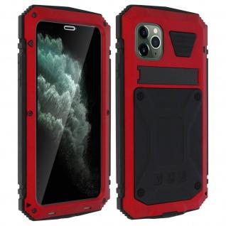 Tank Series Outdoor Hybridhülle, Rundumschutz für Apple iPhone 11 Pro Max - Rot