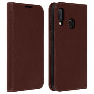 Business Leder Cover, Schutzhülle mit Geldbörse Samsung Galaxy A20e - Braun