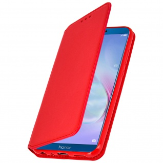 Flip Cover Geldbörse Classic Edition mit Standfunktion Honor 9 Lite - Rot
