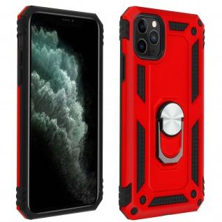Hybrid Handyhülle mit Ring Halterung für Apple iPhone 11 Pro Max - Rot