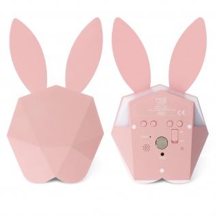 Cutty Clock Bluetooth Wecker by MOB, einzigartiges Hase Design - Pastel Rosa