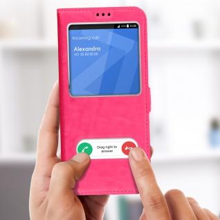 Sony Xperia 1 Flip Cover Doppelfenster & Standfunktion - Rosa - Vorschau 4