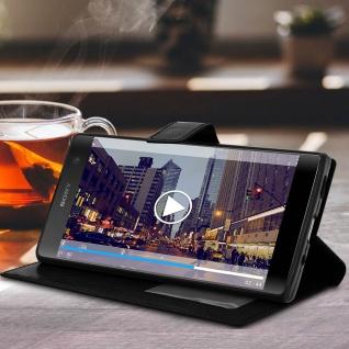 Flip Stand Cover Brieftasche & Standfunktion Sony Xperia XA2 Plus - Schwarz - Vorschau 3