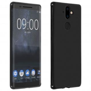 Nokia 9 bruchsichere Schutzhülle aus Silikon - Schwarz