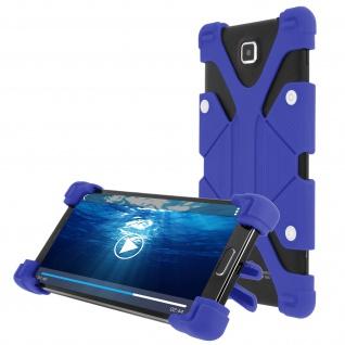 Universal Case mit Bumper Blau Smartphones von 4.7'' bis 5.3'' - Standfunktion