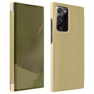 Halddurchsichtige Klapphülle mit Spiegel Design Galaxy Note 20 Ultra - Gold