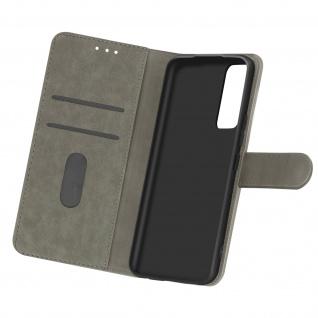 Flip Cover Geldbörse, Etui Kunstleder für Samsung Galaxy A02s ? Grau