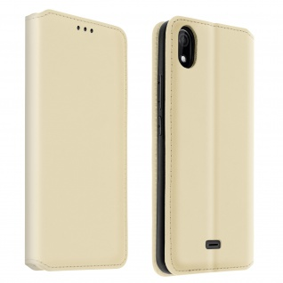 Kunstleder Cover Classic Edition Wiko Y61 ? Gold