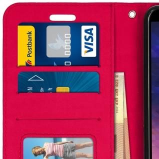 Flip Cover Stand Case Brieftasche & Standfunktion Samsung GalaxyA6 - Fuchsienrot - Vorschau 5