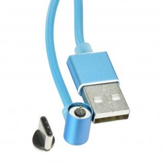 Magnetisches USB/ USB-C Ladekabel Nylon 1m + magnetische USB-C Adapter - Silber