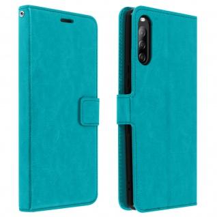 Flip Stand Case Brieftasche & Standfunktion für Sony Xperia L4 - Blau