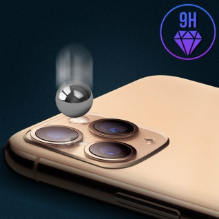 Apple iPhone 11 Pro goldener Fake Kamera Aufkleber für die Rückkamera aus Glas - Vorschau 5