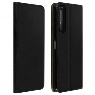 Wallet Cover, Klapphülle für Sony Xperia 1 II, Kartenfach und Ständer ? Schwarz