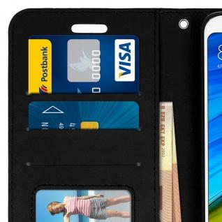 Flip Cover Stand Case Brieftasche & Standfunktion für Xiaomi Redmi 5 - Schwarz - Vorschau 5