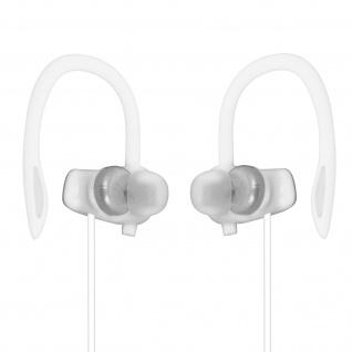 Sport Running Kopfhörer mit Ohrbügel, 3.5mm Klinkenkabel, LinQ ? Grau / Weiß