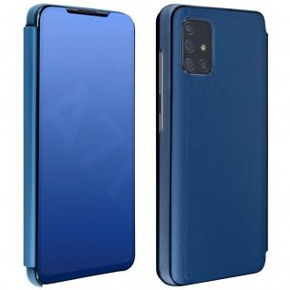 Mirror Klapphülle, Spiegelhülle für Samsung Galaxy A71 - Blau - Vorschau 1