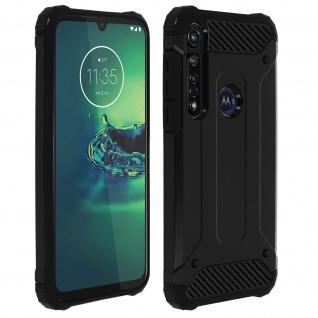 Defender II schockresistente Schutzhülle Motorola Moto G8 Plus - Schwarz