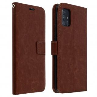 Flip Cover Stand Case Brieftasche & Standfunktion Samsung Galaxy A51 - Braun