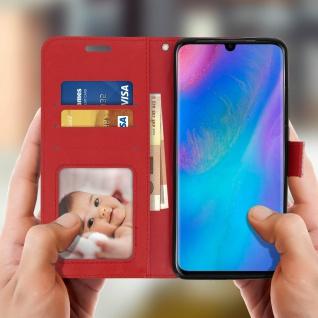 Flip Stand Cover Brieftasche & Standfunktion für Huawei P30 Pro - Rot - Vorschau 3