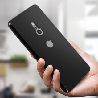 Flexible kratzfeste Schutzhülle aus Silikon für Sony Xperia XZ3 - Schwarz - Vorschau 3