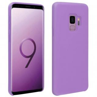Halbsteife Silikon Handyhülle Samsung Galaxy S9, Soft Touch - Violett