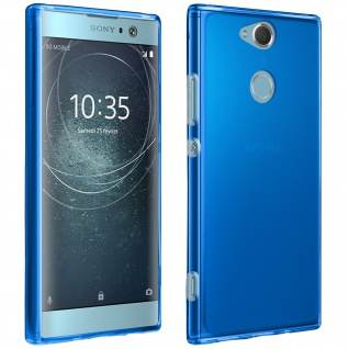 Gelhülle, Backcover für Sony Xperia XA2, Anti-Fingerabdruck, flexibel - Blau