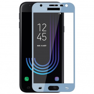 9H Displayschutzfolie aus gehärtetem Glas Samsung Galaxy J3 2017 - Rand Blau