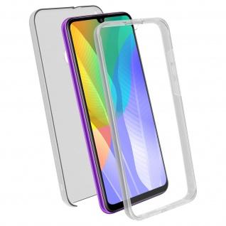 Schutzhülle für Huawei Y6p, Vorder- + Rückseite ? Transparent