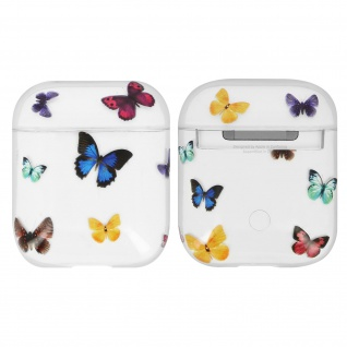 AirPods 1 / 2 Schutzhülle mit Schmetterling Design, by Akashi - Transparent