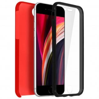 Schutzhülle für Apple iPhone 7 / 8 / SE 2020, Vorder- + Rückseite ? Rot
