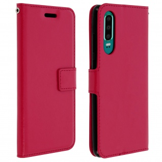 Flip Stand Cover Brieftasche & Standfunktion für Huawei P30 - Rosa