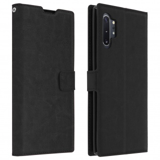 Flip Cover Stand Case Brieftasche & Standfunktion Galaxy Note 10 Plus - Schwarz