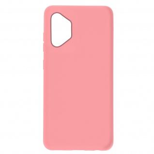 Halbsteife Silikon Handyhülle für Samsung Galaxy A32 5G, Soft Touch ? Rosa