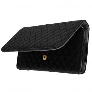 Brieftaschenhülle für Smartphones Grße 4XL - Mit Rautenmuster - Schwarz