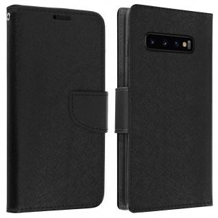 Fancy Style Cover Samsung Galaxy S10, Fach und Standfunktion - Schwarz