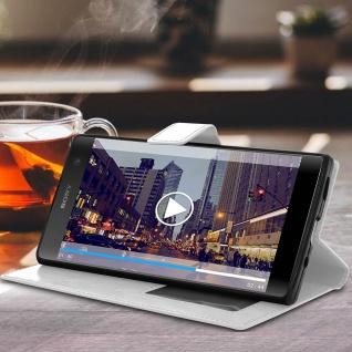 Flip Stand Cover Brieftasche & Standfunktion Sony Xperia XA2 Plus - Weiß - Vorschau 3