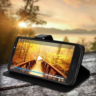 Flip Stand Cover Brieftasche & Standfunktion Motorola Moto G6 Play/E5 - Schwarz - Vorschau 2