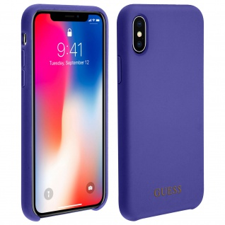 Guess harte Schutzhülle, Hardcase für Apple iPhone X, iPhone XS - Violett